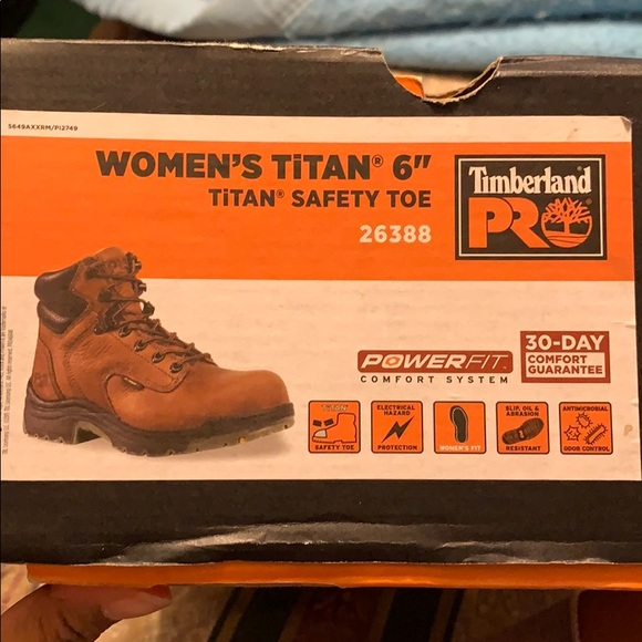 """New Women's 6"""" Titan Safety Toe Timberland Boots"""